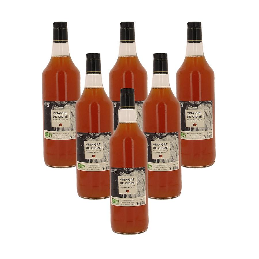 Bouteille de vinaigre de cidre artisanal