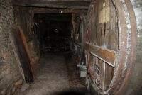 Barrique à cidre dans une cave de la route du cidre