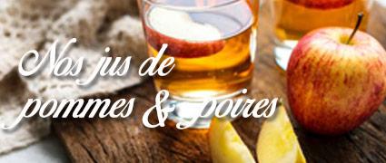 Découvrez nos jus de pommes et poires artisanaux et fermiers de Normandie